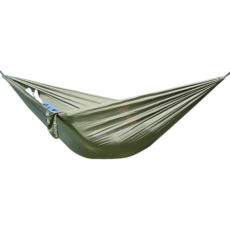 Para acampar sola persona de campamento de verano portátil de nylon ligero Tela recorrido al aire libre hamaca colgante