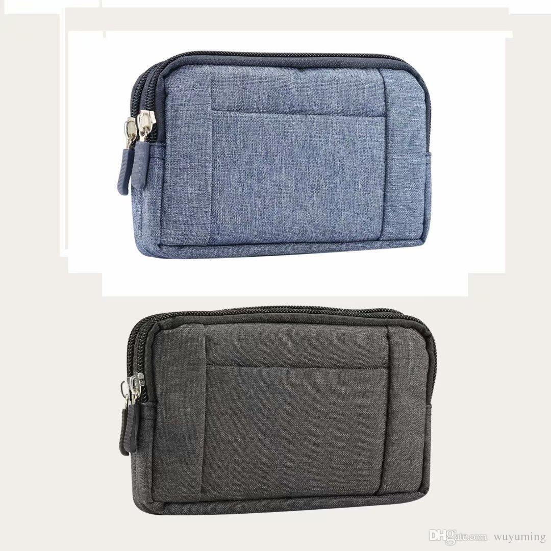 6.4inch Casual Fanny Pack for Women Men Waist Bag Cowboy Cloth Unisex Waistbag for Phones Belt Bag Zipper Pouch Packs XL size