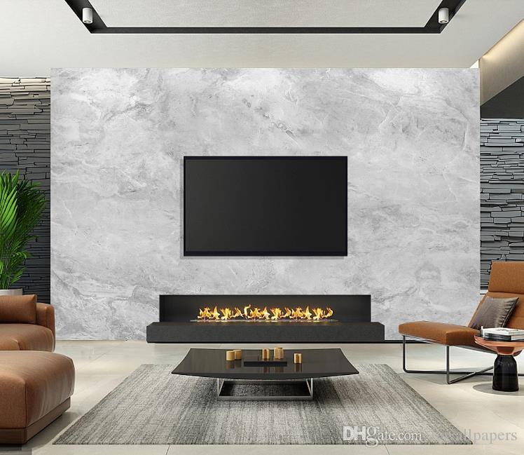 Encargo cualquier tamaño 3D decoración papeles de pared en casa HD Jazz de mármol blanco del papel pintado fresco de la sala