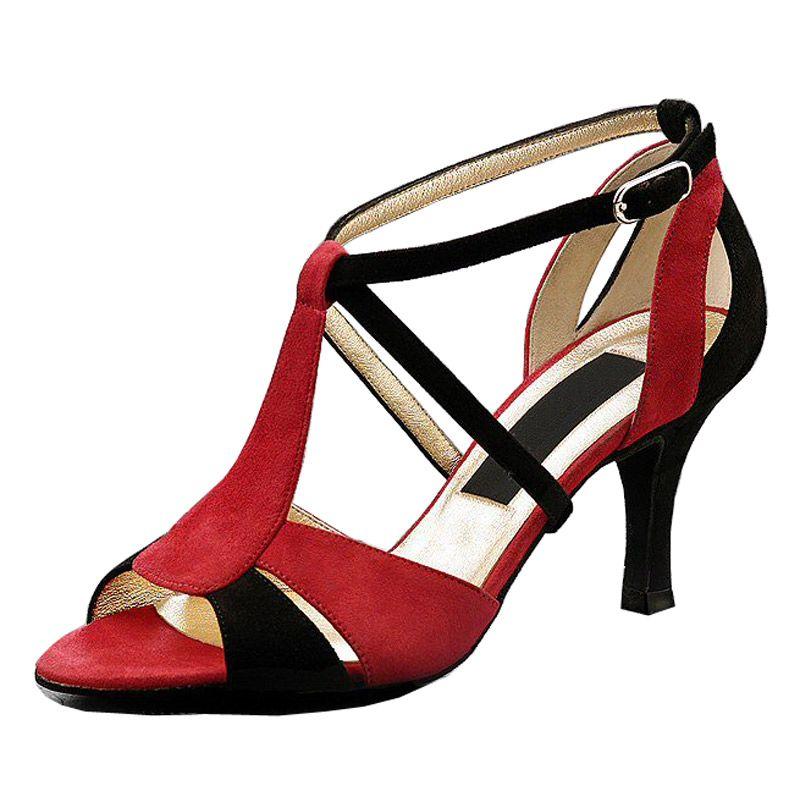kare dans ayakkabıları yumuşak yüksekliği topuklu alt performans seksi özel göbek GB ayakkabı ile erişkin kadınlarda XSG Latin Balo dans ayakkabıları