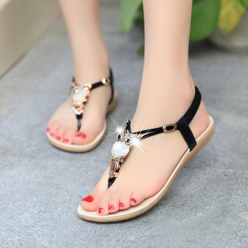 Hot Sale New Womens Flat Sandal T Strap