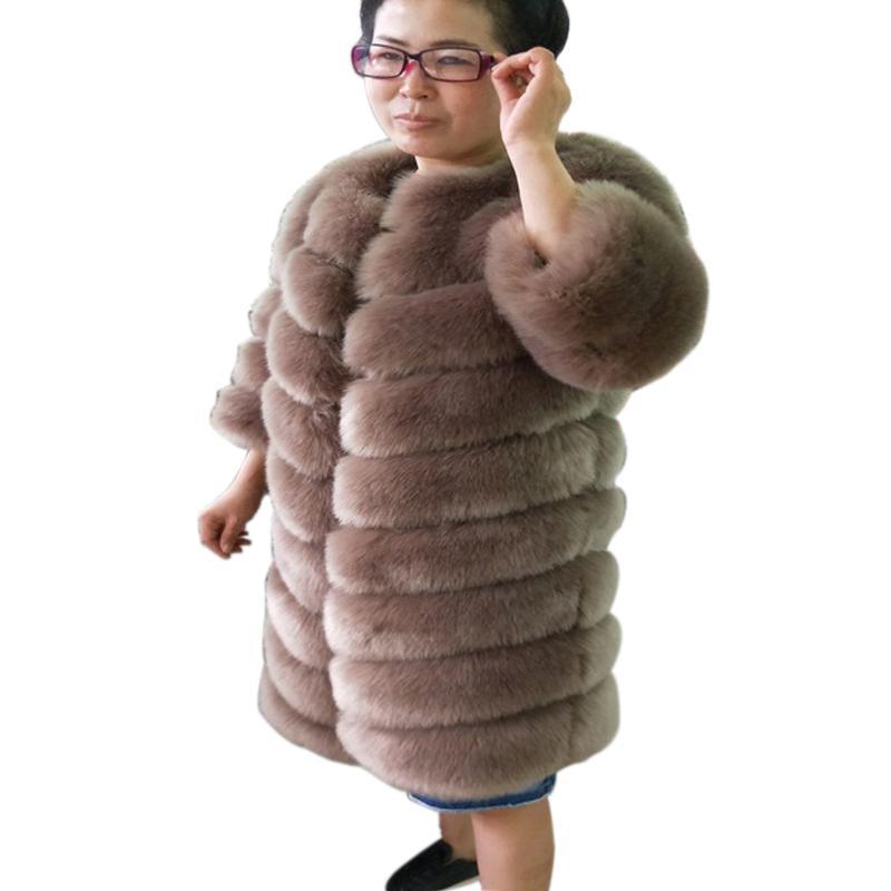 ZADORIN 2018 Nouvelle Automne Hiver Manteau Femmes Furry Long Manteau En Fausse Fourrure Plus La Taille Épais Chaud Dames Manteaux De Fourrure Vestes Abrigos Mujer
