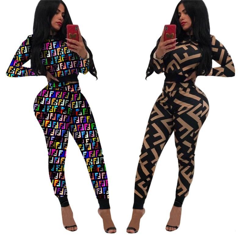 Luva longa das mulheres camisa agasalho calças duas peças conjunto de roupas pulôver legging sportswear Jogging Sports Suits desgaste da noite hot2954