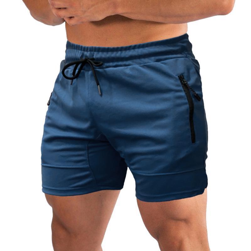 Мужские фитнес шорты быстросохнущие тренажерный зал пляжные шорты летние лежачие спортивные тренировки бег короткие брюки с карманами тренажерный зал