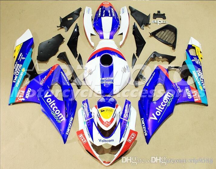 3 gifts+Seat cowl New Fairings Kits For SUZUKI GSXR1000 K5 05-06 GSXR 1000 GSX R1000 GSX-R1000 K5 05 06 2005 2006 Fairing White Blue T12