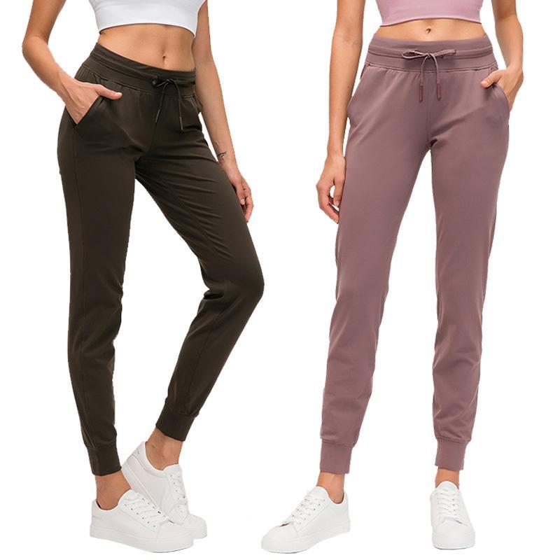 Yeni Spandex Yoga Tozluklar Yukarı Yoga Pantolon LU-45 Spor Lady Spor Tayt Kemer Cep Viper Yüksek Bel Tozluklar Yoga İnce Hızlı kuruyan E itin