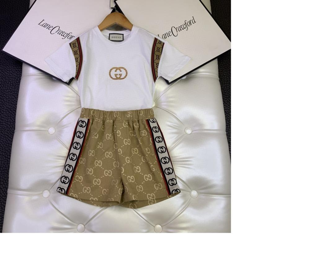 Two Piece Children's Garment Girl Korean Style soft and comfortable short sleeve Suit fashion 031413