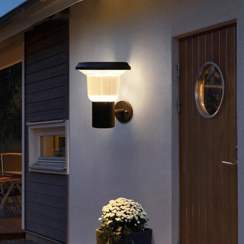 태양 열 헤드 라이트 IP65 방수 벽 램프 4.5W 라이트 제어 유도 정원 정원 램프 조명