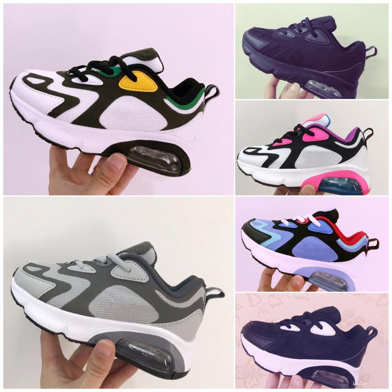 Nike Air Max 200 Bébé Enfants Outdoor Chaussures 2020 trainers Coussin Chaussures Chaussures pour Enfants garçons filles courir taille Chaussures Eur 28-35