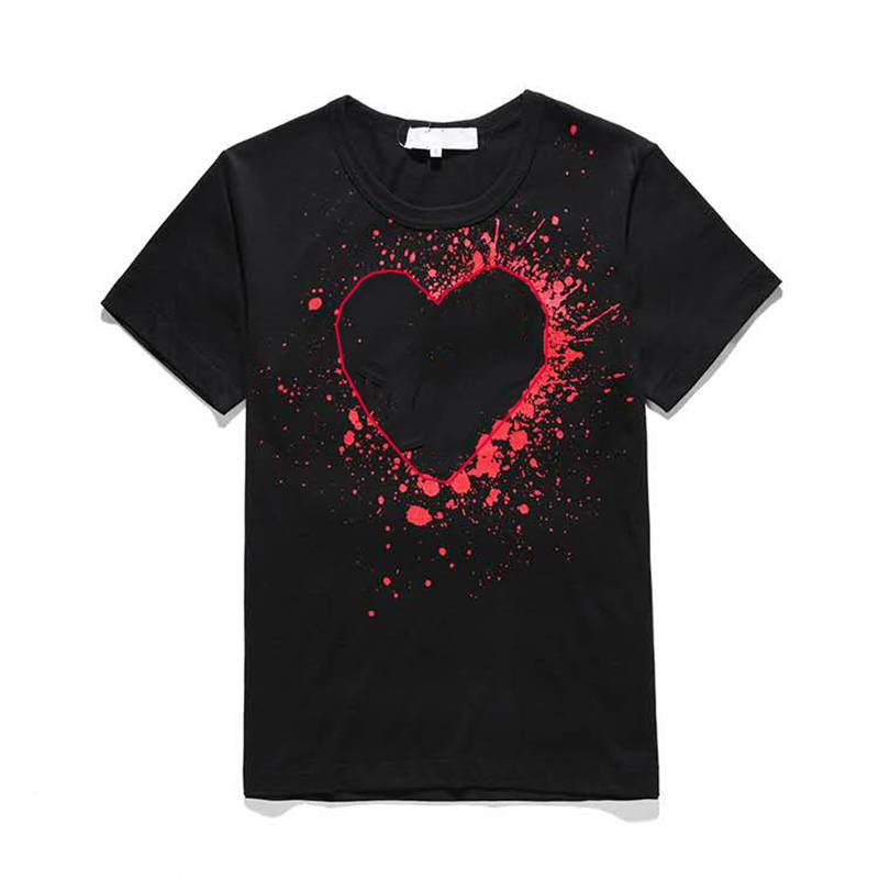 Designer shirt 20ss BRNAD modo di estate di marca di lusso magliette maglietta a maniche corte con stampa a cuori T divertente Top Tees Hot