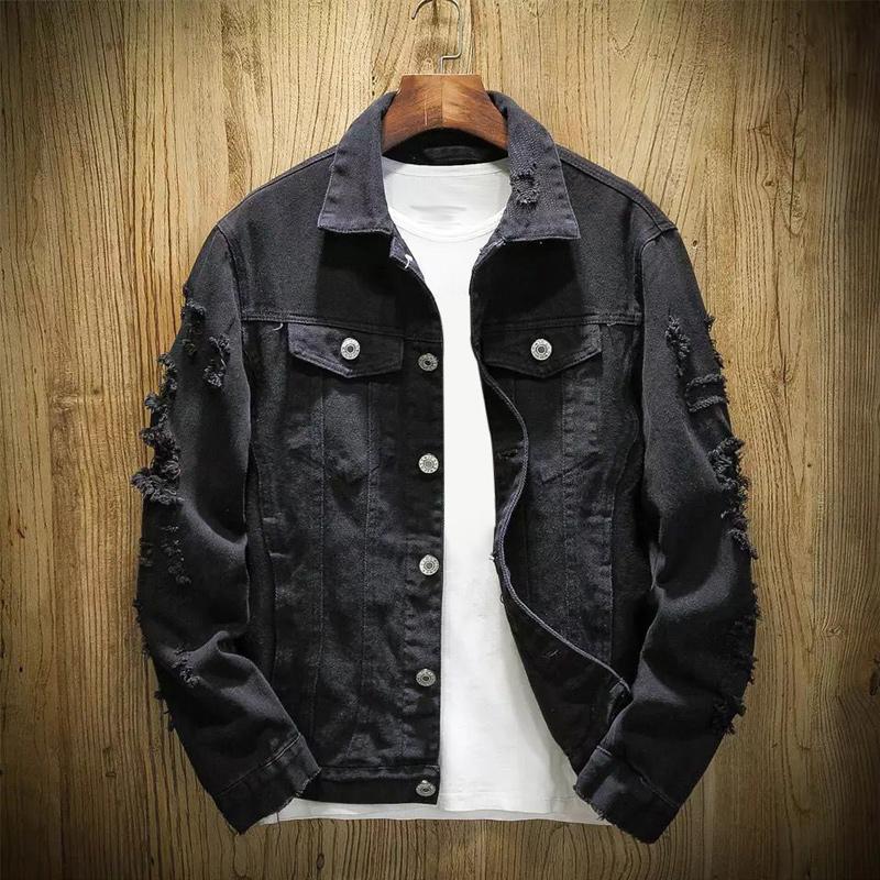 New Men Jeans Jacket Mens Bomber Jackets Hip Hop Man Vintage Denim Jacket Coat Streetwear Chaqueta Hombre S XL XXL