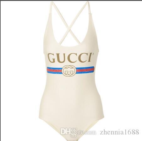 traje de baño sin espalda de la marca, sexy vendaje cortado alto un solo traje de baño gini para mujer traje de baño playa
