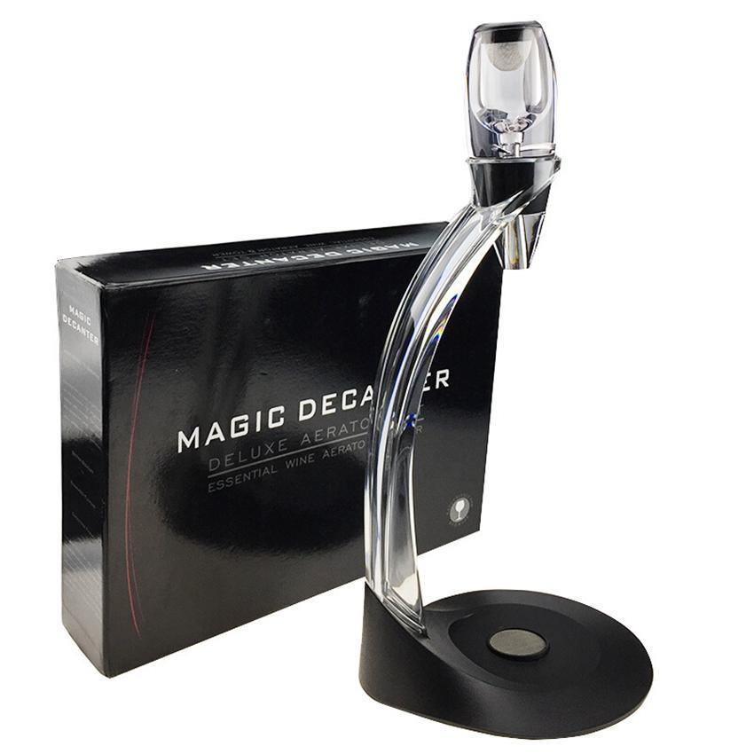 Accesorios de cristal aireador de vino Set de regalo aireadores Torre Conjunto rojo vino mágico de la jarra rápida con el regalo vino de la caja Vertedor KKA7917