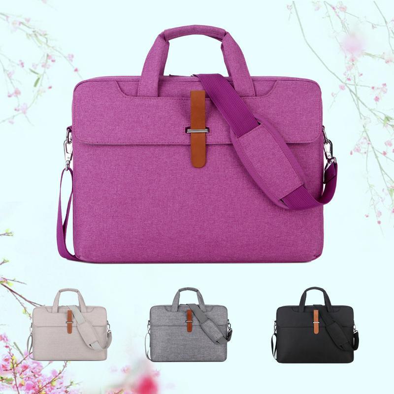Men Briefcase Large Capacity Laptop Handbag Notebook Bag For Women Travel Bussiness For 14 15 Inch Macbook Pro PC Case