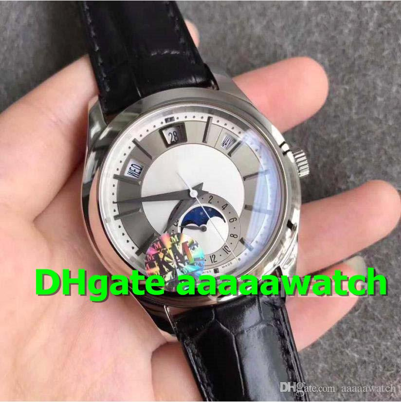 Km Luxury Watch 5205g Watch Miyota 9015 Annual Calendar Moonphase 24 Hour Sub Dial Stainless Steel Case Leather A 324sq Men Watch Watches Deal