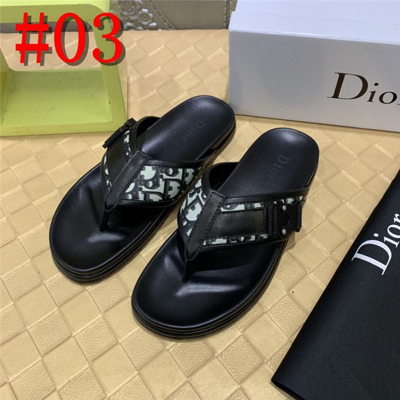 Flip 19FS 2020 Marca Men falhanços de couro de luxo chinelos de praia Casual Sandálias do verão Homens Fashion Shoes