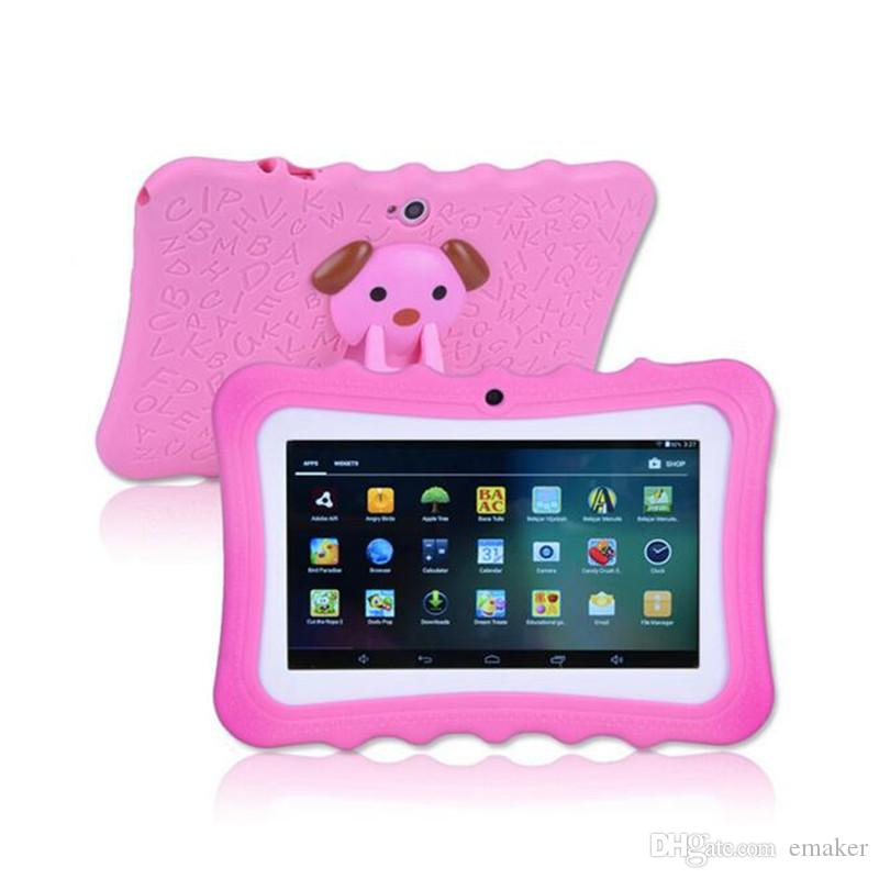 Wholesale ! Kid Educational Tablet PC 7 Inch Screen 1+8G Quad Core Children Tablet Google Player With Retail Box