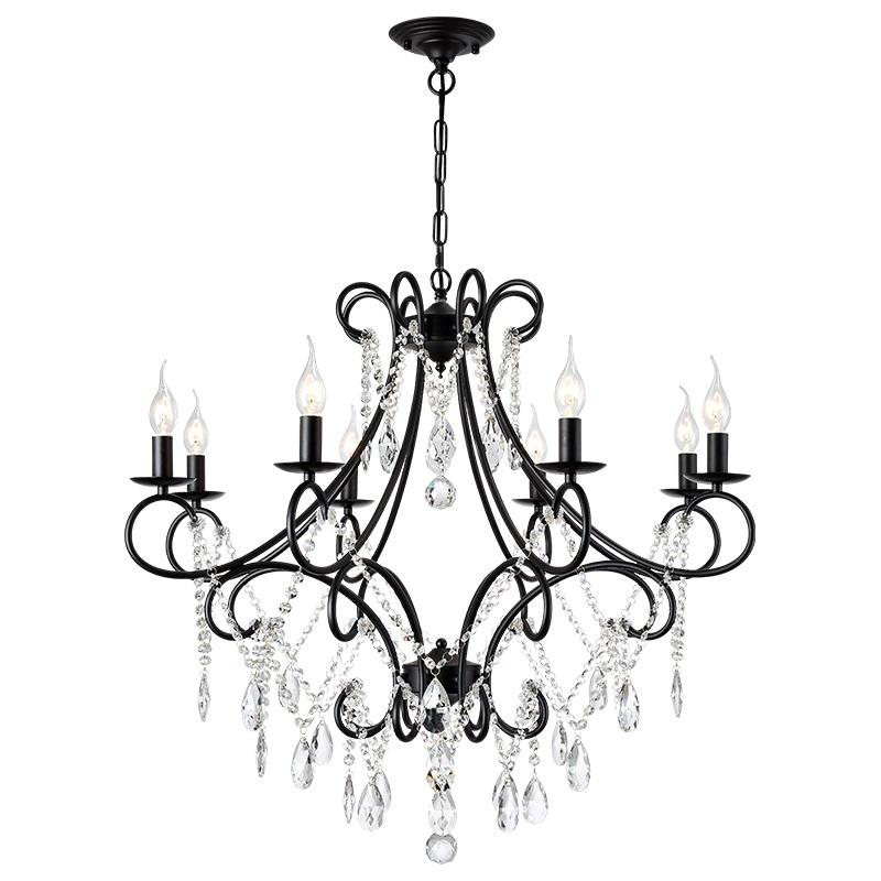 American Country Crystal Chandelier Wrought Iron Living Room Lamp Creative Personality Bedroom Dining Room Candle Lamp Vintage Chandelier Rustic Chandeliers White Chandelier From Jindalighting 135 08 Dhgate Com
