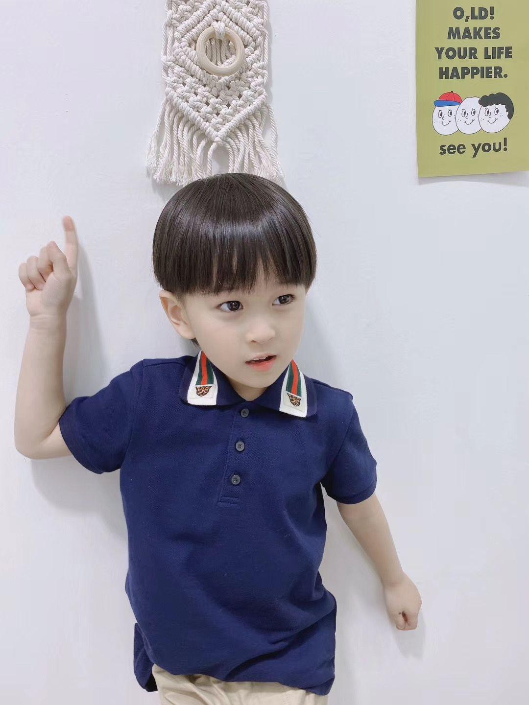 Verão Cotton Crianças Meninos Collar Polo Tops Baby Boy Sprots Shirts lapela Odile tecido T Roupa Moda