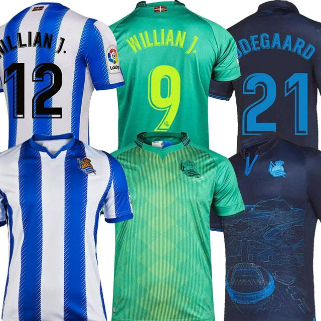 2019 T-shirt 2020 Real Sociedad calcio domestico Jersey X.PRIETO Juanmi di calcio 19 20 Real Sociedad striscia Agirretxe CARLOS Royal Society blu del piede
