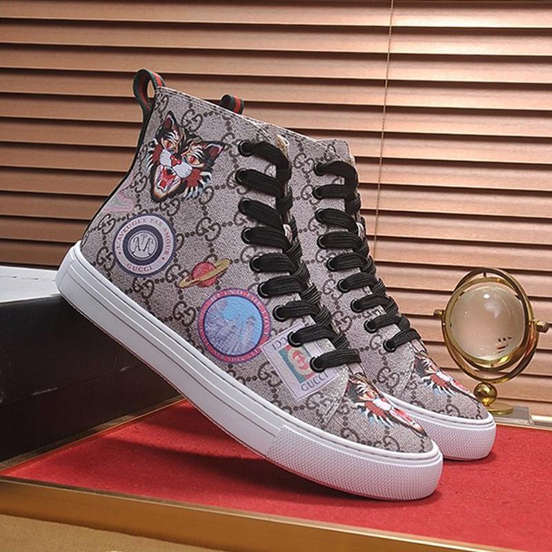 Hombres zapatilla Footwears los cargadores del tobillo Bottes Hommes diseño de lujo de los hombres zapatos de los cargadores G225 Chaussures Pour Hommes moda zapatillas de deporte Fast Ship