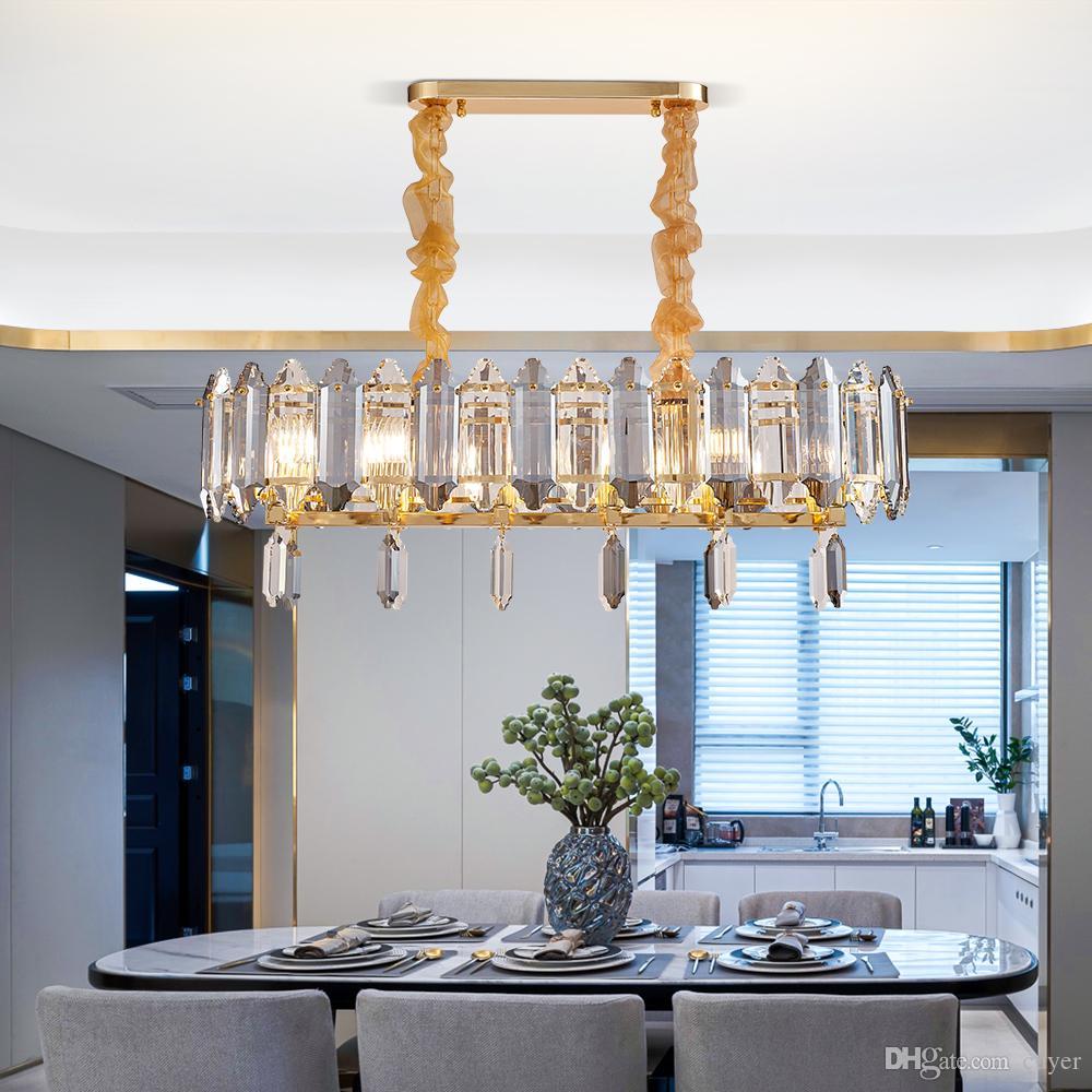 Прямоугольник Крите Современный дизайн освещение Роскошных Подвесной светильник для гостиной столовой кухня остров современный номер