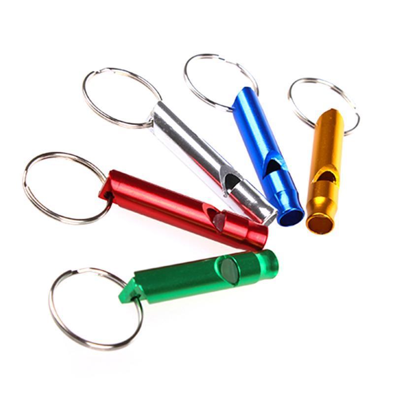 متعدد الألوان سبائك الألومنيوم مصغرة صافرة المفاتيح للخارجية الطوارئ بقاء صافرة السلامة الرياضة التخييم الصيد الكلب المدرب صافرة