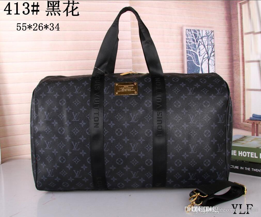 55CM النساء قدرة كبيرة حقائب كلاسيكية حقائب من القماش الخشن الساخن بيع الرجال ذات جودة عالية الكتف تحمل الأمتعة والشحن مجانا السفر