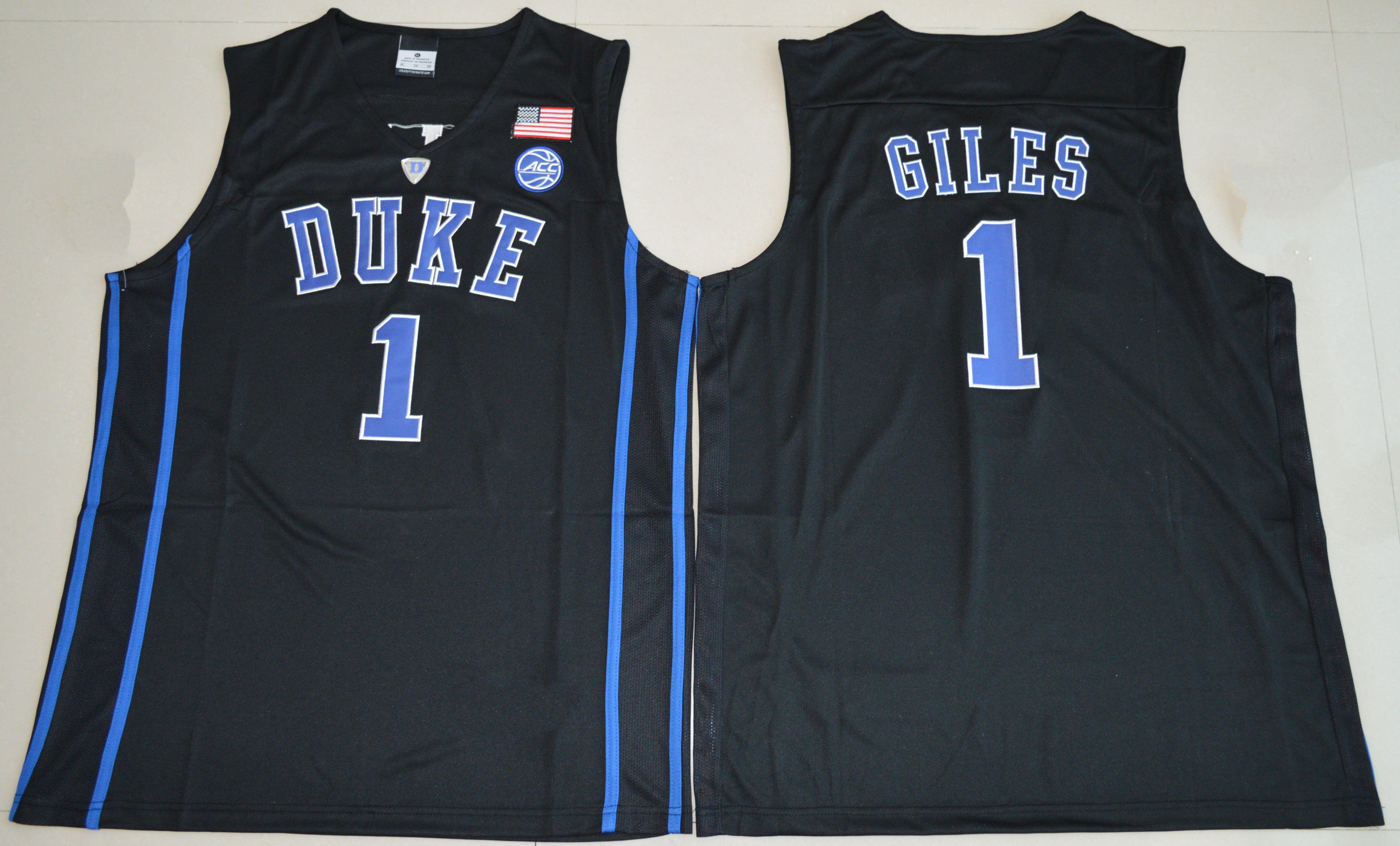 Harry Giles White Black Duke Blue Devils Brandon Ingram Stitched Men's Kyrie Irving College Basketball Jersey