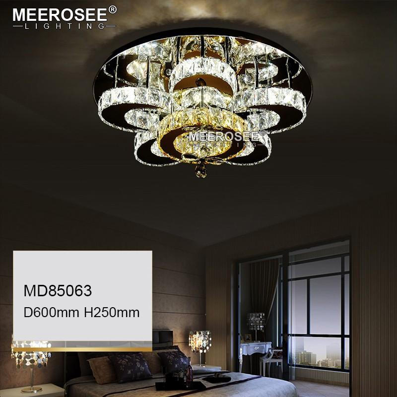 Modern Diamond LED Chandeliers Crystal Lamp Ceiling Fixtures AC90-260V Silver lustre living Room Lights LED Ceiling Lamps Flush Mounted