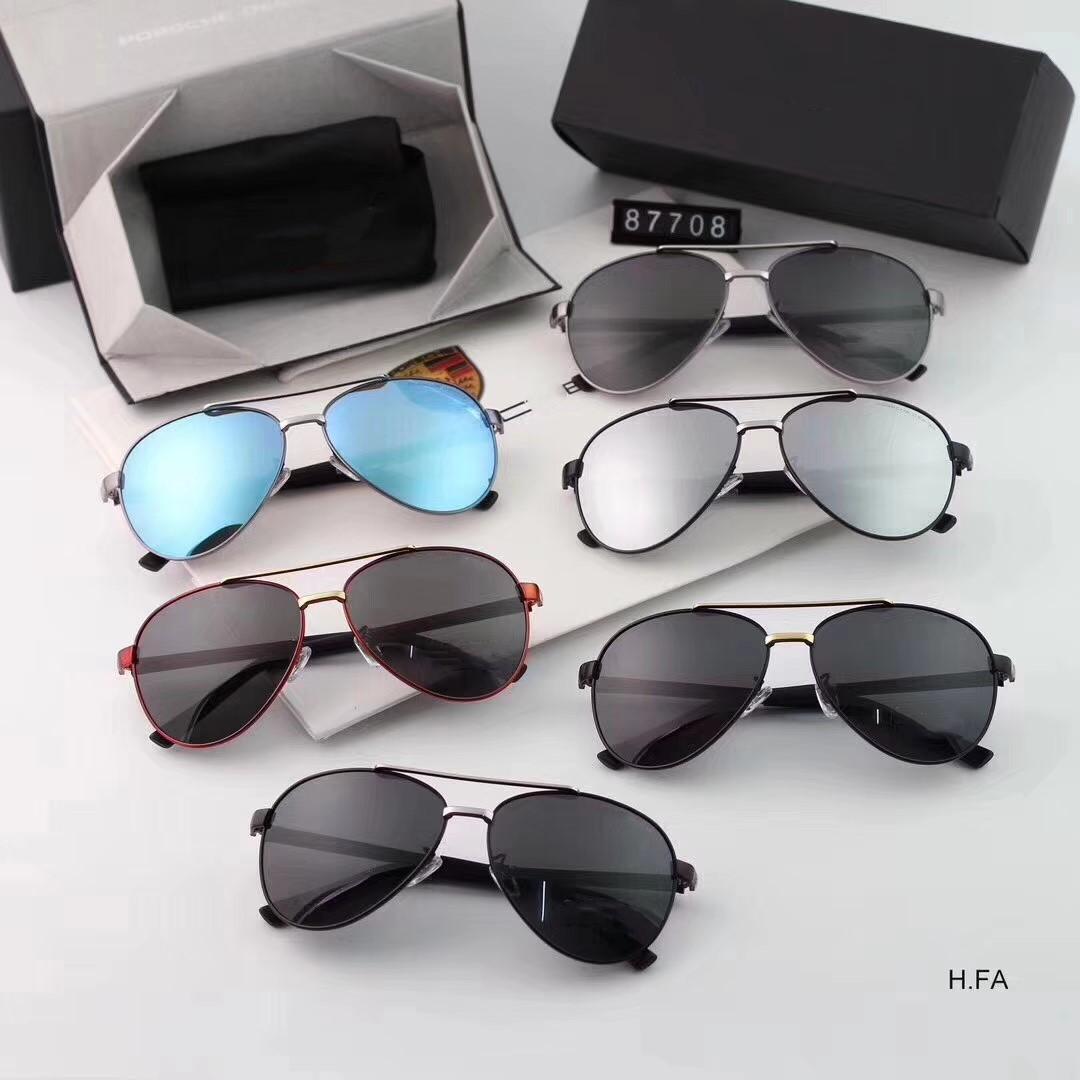 Di trasporto-Il nuovo stile di occhiali da sole polarizzati degli uomini in acciaio inox 6 colori in estate 2018 il modello 8770 è di moda