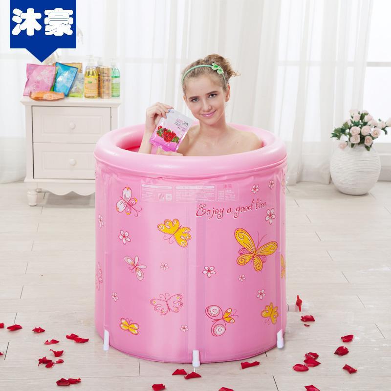 Algodón acolchado plegable Bañera barril grande de plástico inflable Bañera de hidromasaje Baño adulto agua barril