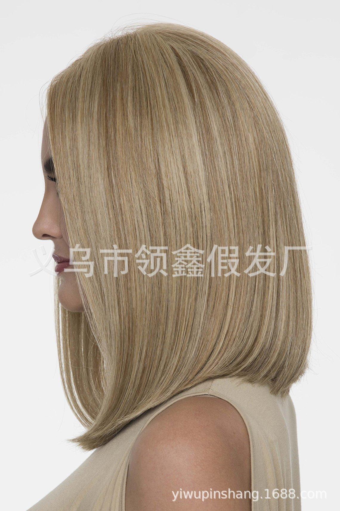 Neue populäre europäische amerikanische Perücke Lady Gradient langes lockiges Haar Rose Net Perücke Fabrik Spot-Großhandel