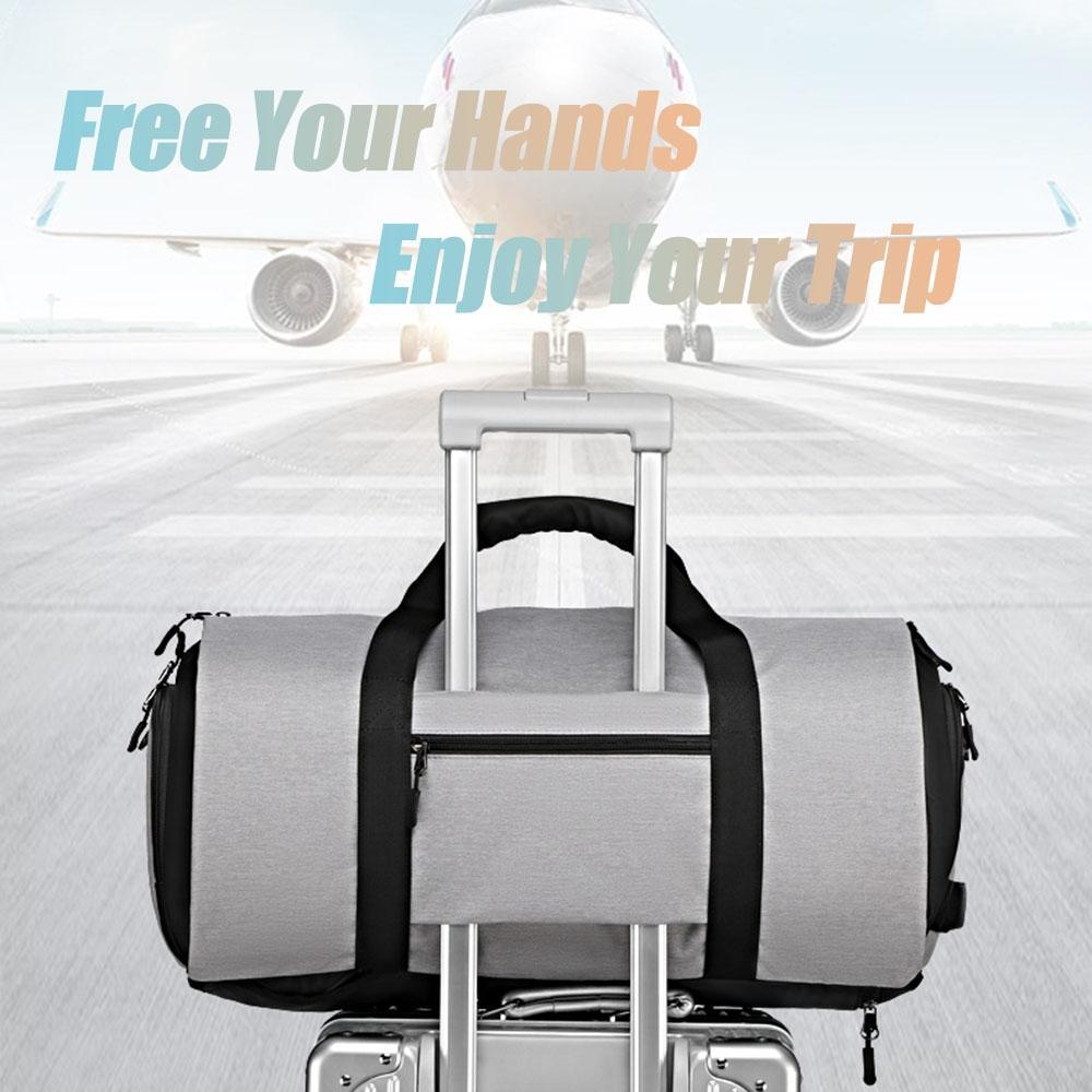 Viagem Anti-Theft Backpack For Men Suit grande capacidade de armazenamento de viagem Mão Bag Multifuncional Waterproof viagem Mochila Shoe bolso Ski Pant