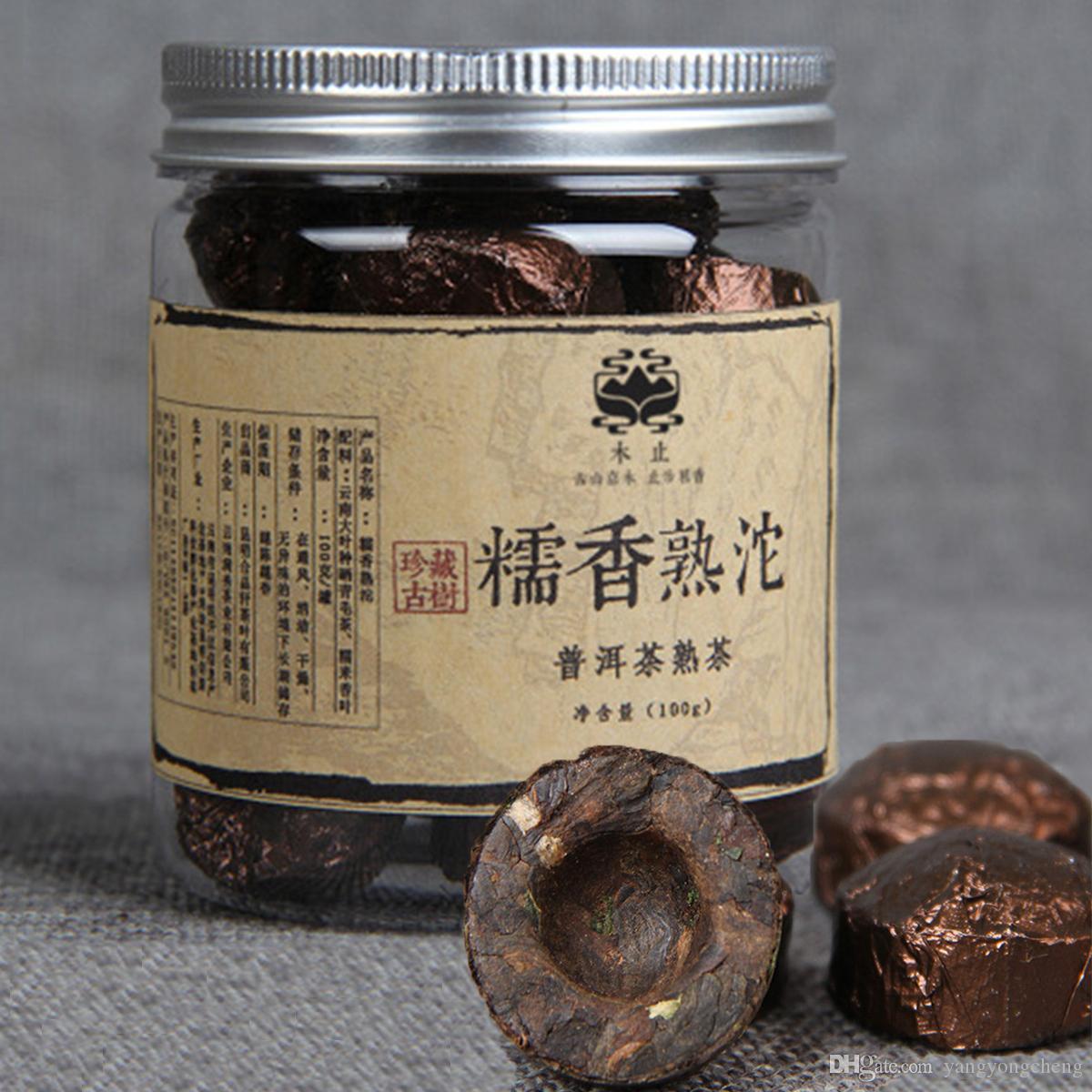 Yunnan Puerh Tee Tuocha Kleine Dosen Klebreis PU-äh Schwarzer Tee 100g Puer gekocht Puerh Chinese Green Essen Reife Pu Erh Tee