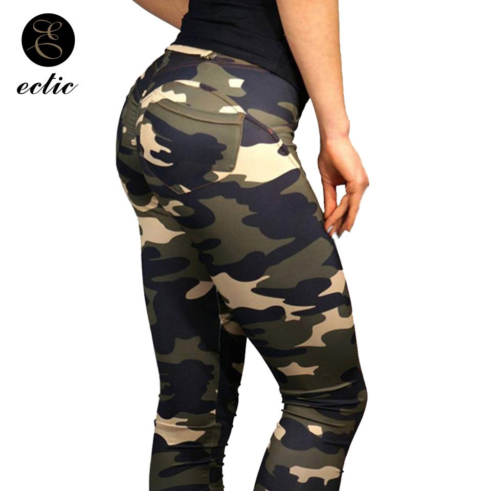 Ladies Women/'s Camouflage Military Outdoor Leggings High Waist Casual Army Pants