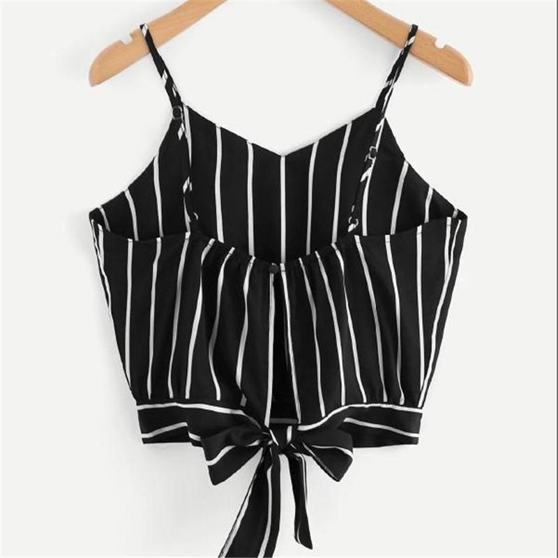 Версия для печати Женской Camis Sexy V шеи Backless Crop Tops Casual естественного цвета Camis женщины дизайнера одежды