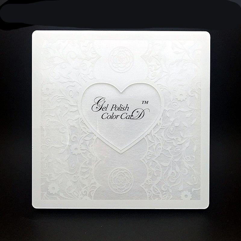 Manicure acrilico bianco del display del chiodo del merletto del libro di arte del chiodo del pizzo che mostra con le punte piene del chiodo 72/80/96 / 120Colors