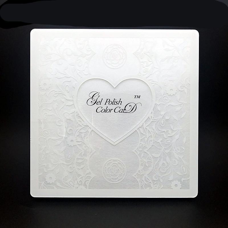 Branco Acrílico Nail Display Livro Lace Nail Art Gel Polonês Cartão de Exibição Manicure Mostrando Com Prego Completo Dicas 72/80/96/120 cores