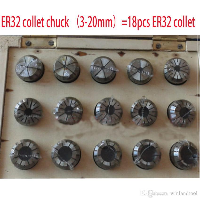 ER32 set collet incluyendo 18pcs er32 collet chuck