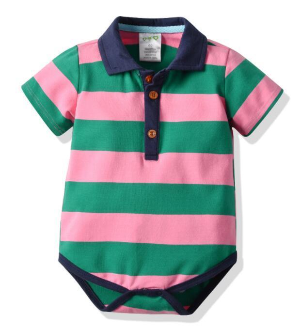 2019 Новый Amazon Взрывчатка Младенцы Хайя с короткими рукавами Хайя Хлопок в полоску Одежда для фабрики прямых продаж костюм бестселлера новый