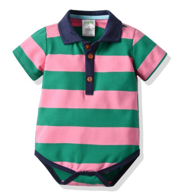 2019 New Amazon Explosive Babies Haja Joint manica corta Haja Cotton Stripe Climbing Clothing Factory Direct Sales suit Best-seller new