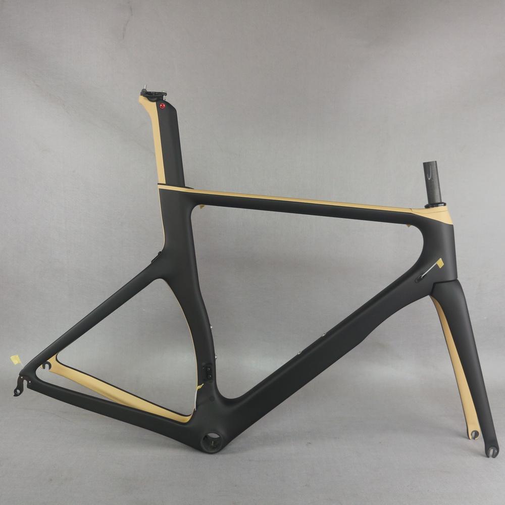Light Modulus Tory Carbon Fiber T700 size XL BB86 custom paint Aero design road bike frame TT-X2