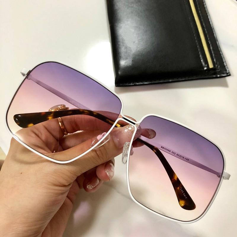 Luxus 0049 Sonnenbrillen für Frauen Designer Belieben quadratischen Rahmen UV400 Connecti Objektiv Sommer Fashion Style Rahmen Top-Qualität mit Fall