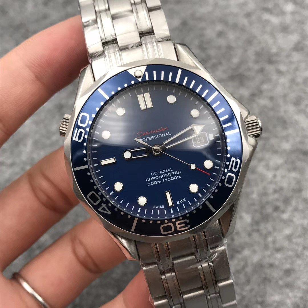 17 styles mens luxe montres-bracelets montres classiques Hommes automatiques Mechanica 007 montres en verre Retour mens montres de mode