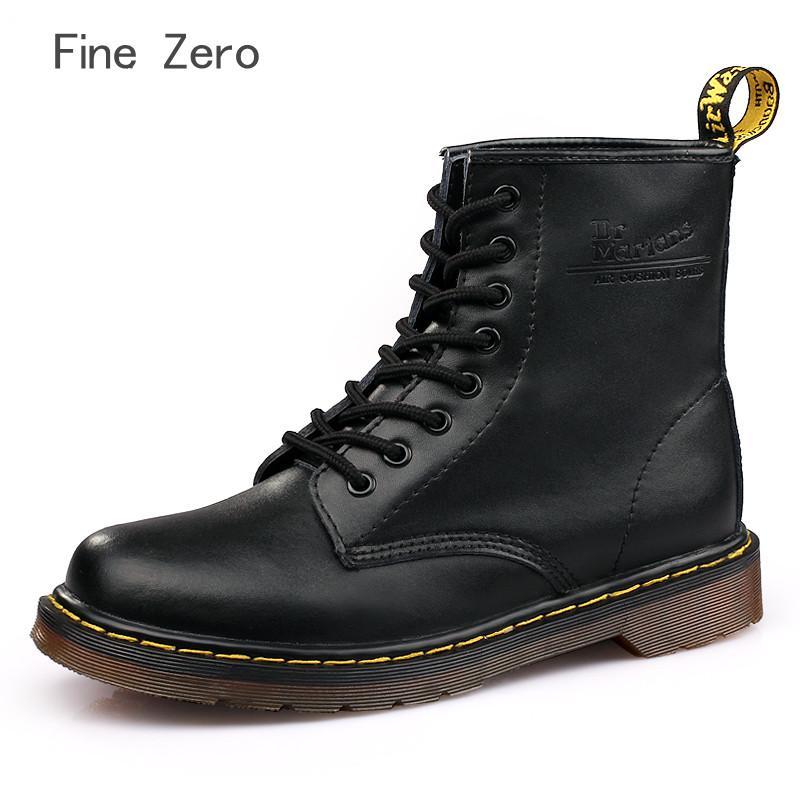 2019 ventas al por mayor Botas Pareja Zapatos de cuero genuino Para botas de invierno Zapatos Mujer Casual Primavera Cuero genuino Botas Mujer tobillo masculino