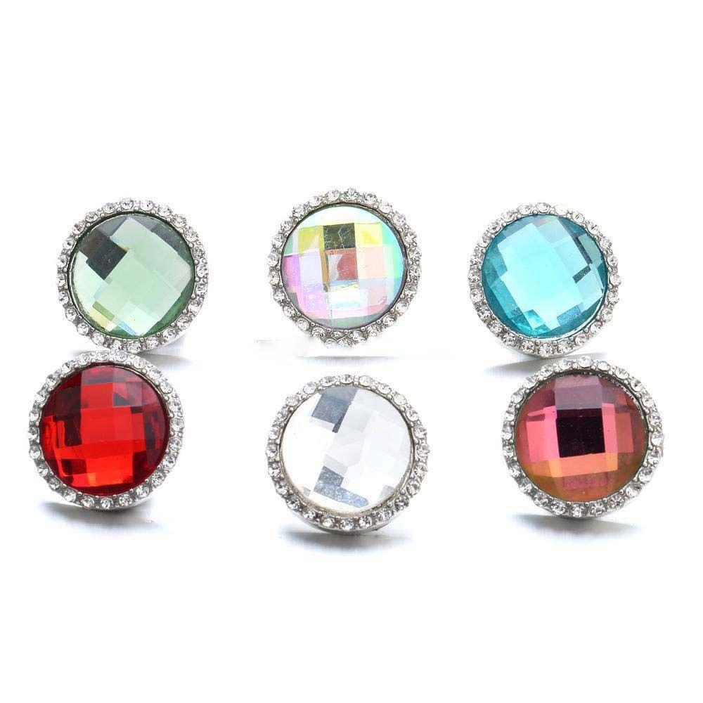 Noosa Druckknopf Big Strass Runde Ingwer Druckknopf 18mm Crystal Snap Charms Armband Halskette Schmuck