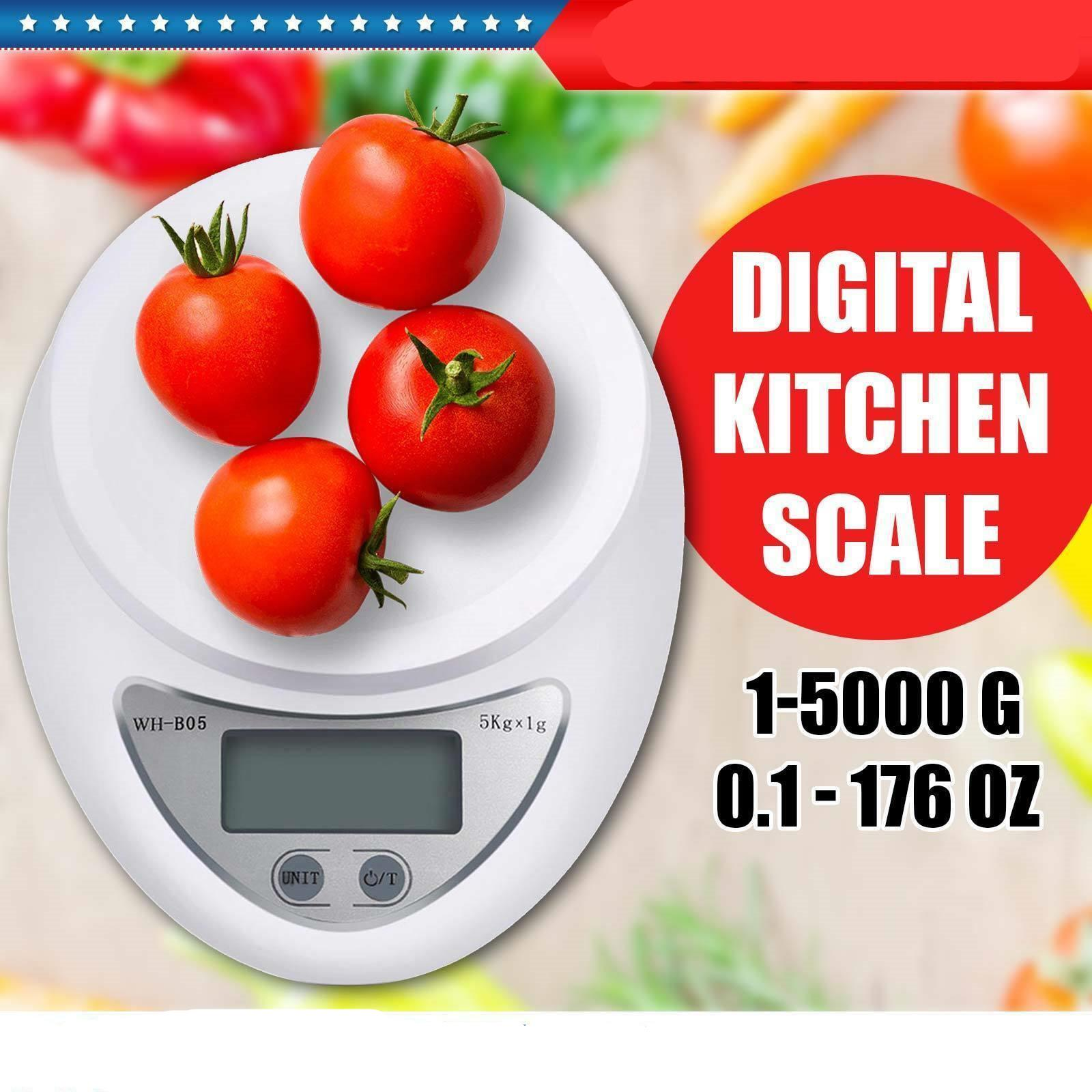 5kg 5000g/1g LCD Digital Kitchen Scale 11LBS Electronic Weight Diet Cooking Food Balance Weight Measure Tool Gram Oz Lb