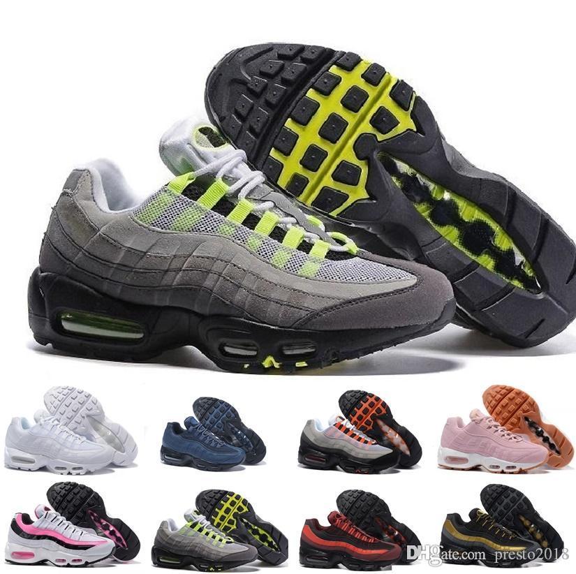 Nike air max airmax 95 Scarpe recenti TN plus corsa a uomo Mens Triple Black Red Champagne scarpa d'oro formatori Sneakers Chaussure TN Outdoor Sports 40-45
