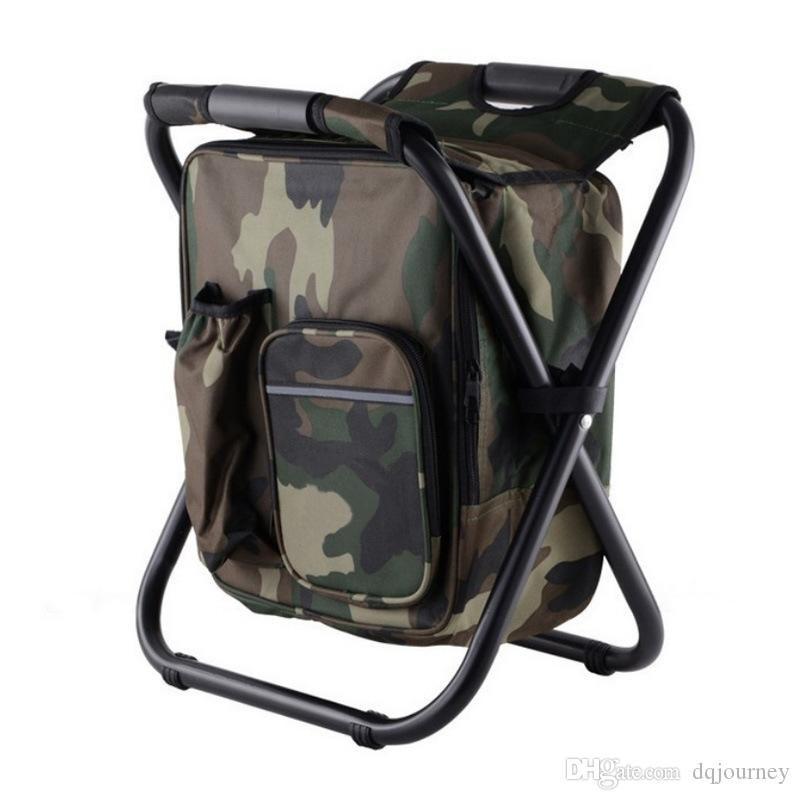 Dobrável famosa cadeira de pesca portátil marca de pesca mochila cadeira banquinho conveniente desgaste desgaste para equipamento de escalada de caça ao ar livre